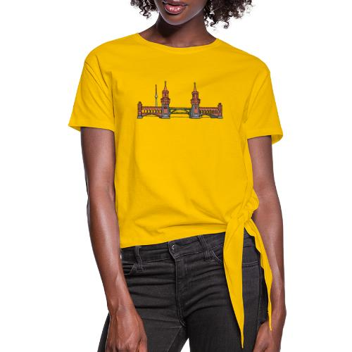 Oberbaum Bridge Berlin - Women's Knotted T-Shirt