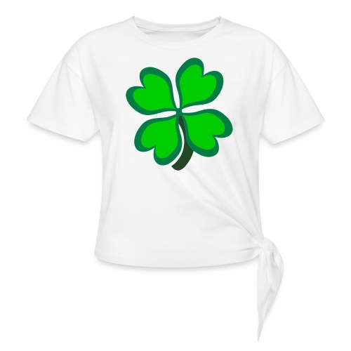 4 leaf clover - Women's Knotted T-Shirt