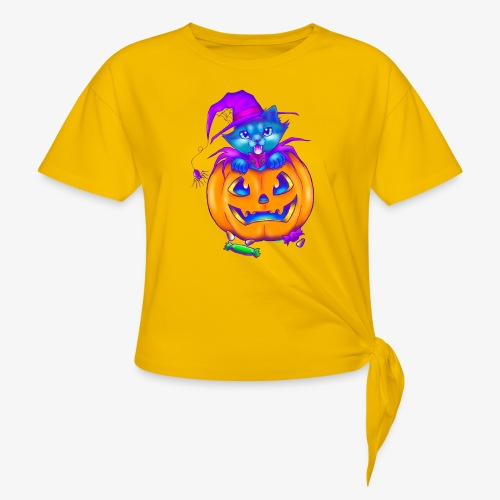 halloweenspecial - Women's Knotted T-Shirt