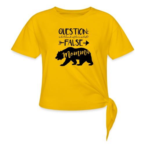 Momma Bear - Women's Knotted T-Shirt