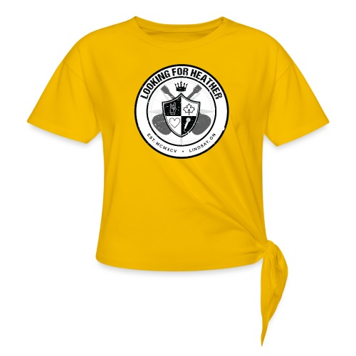 Looking For Heather - Crest Logo - Women's Knotted T-Shirt