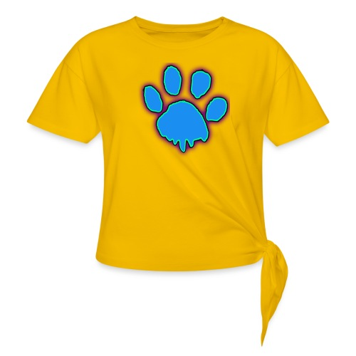 driping paw - Women's Knotted T-Shirt