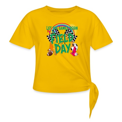Field Day Games for SCHOOL - Women's Knotted T-Shirt