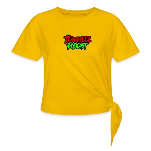 TEAMHEEL Podcast RedNGreen - Women's Knotted T-Shirt