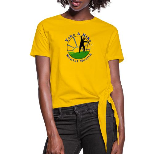 Take A Hike For Mental Health - Women's Knotted T-Shirt