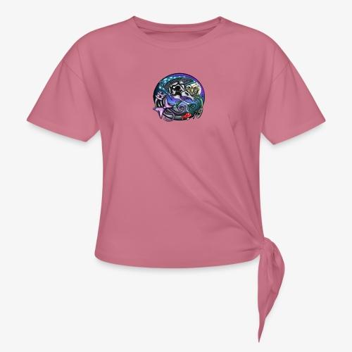 Mother CreepyPasta Nursery Rhyme Circle Design - Women's Knotted T-Shirt