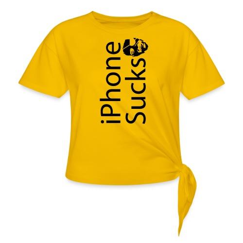 iPhone Sucks - Women's Knotted T-Shirt