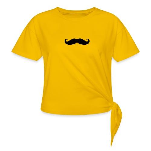 mustache - Women's Knotted T-Shirt