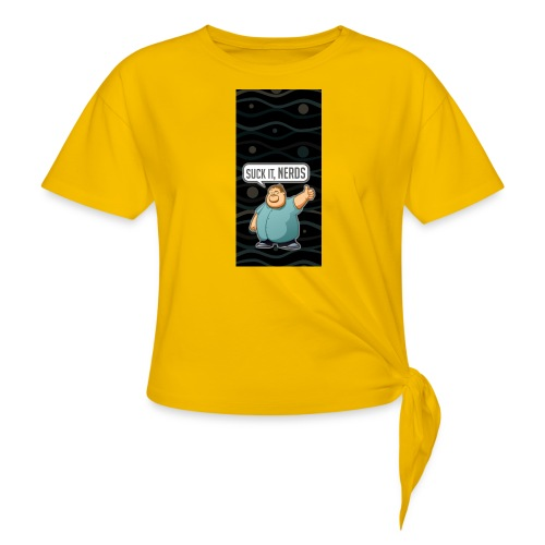 nerdiphone5 - Women's Knotted T-Shirt