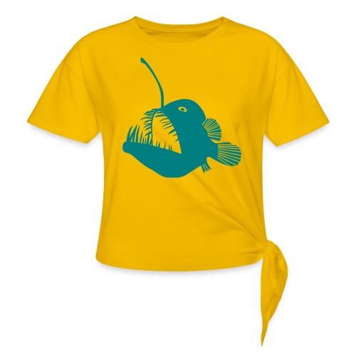 anglerfish frogfish sea devil deep sea angler - Women's Knotted T-Shirt