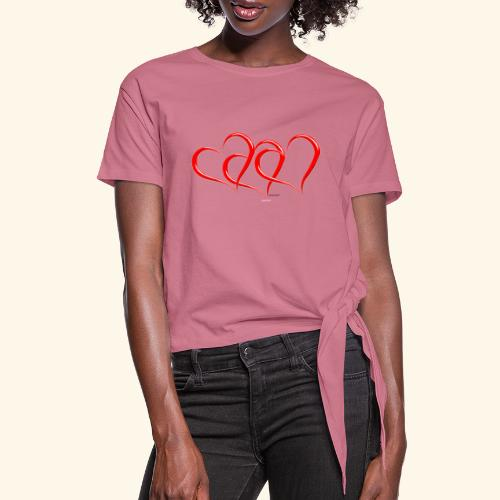 3hrts - Women's Knotted T-Shirt