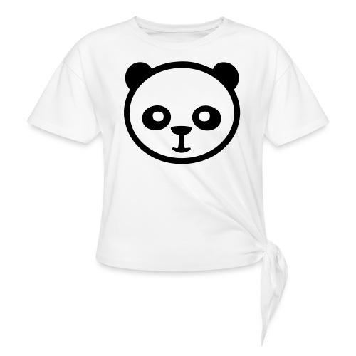 Panda bear, Big panda, Giant panda, Bamboo bear - Women's Knotted T-Shirt