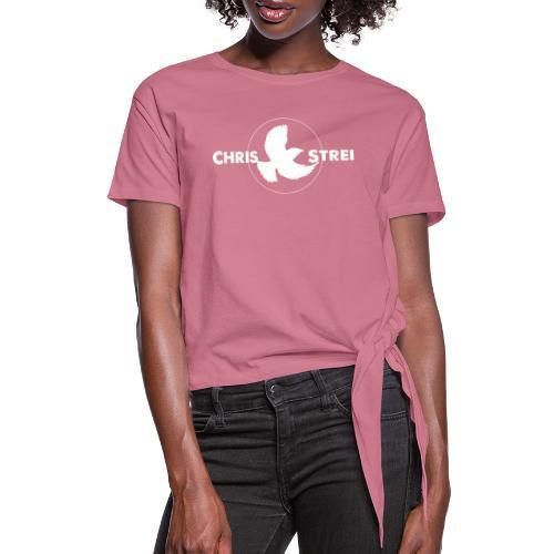 Chris Strei BlackBird Logo - Women's Knotted T-Shirt