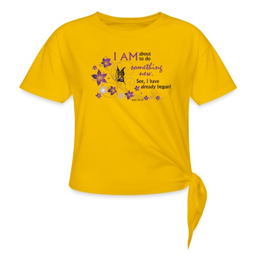 Something new - Women's Knotted T-Shirt