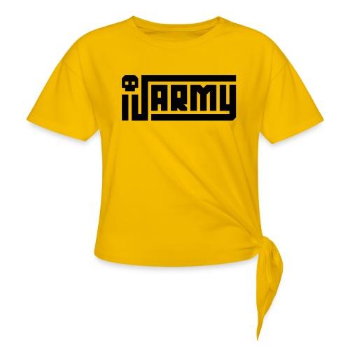 iJustine - iJ Army Logo - Women's Knotted T-Shirt