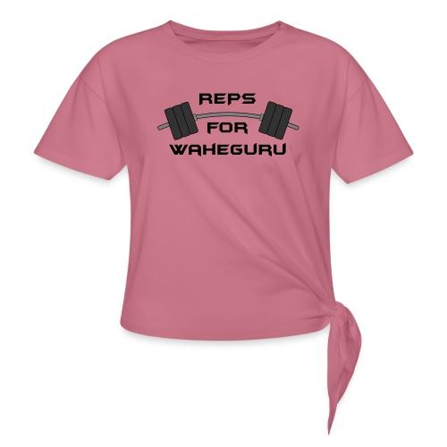 REPS FOR WAHEGURU - Women's Knotted T-Shirt
