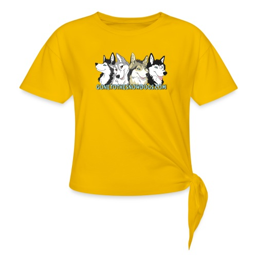 Siberian Husky Snow Dogs - Women's Knotted T-Shirt