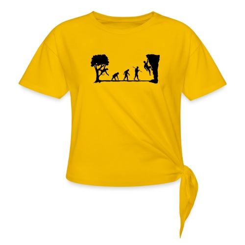 Apes Climb - Women's Knotted T-Shirt