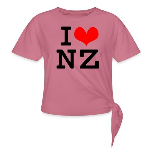 I Love NZ - Women's Knotted T-Shirt