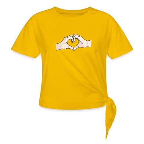 Heart Hands - Women's Knotted T-Shirt
