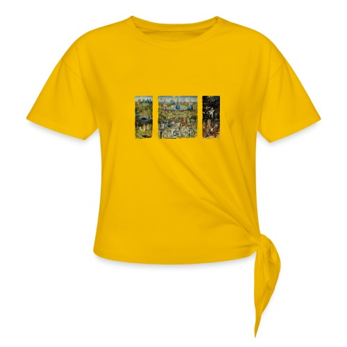 Garden Of Earthly Delights - Women's Knotted T-Shirt