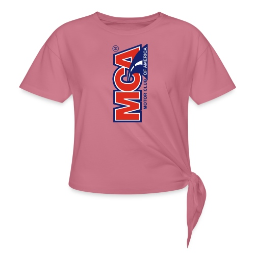 MCA Logo Iphone png - Women's Knotted T-Shirt