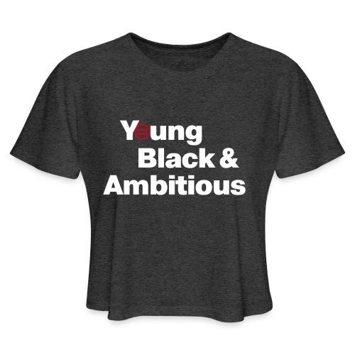 YBA Black Shirt2 - Women's Cropped T-Shirt