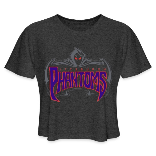 Pittsburgh Phantoms (Roller Hockey) - Women's Cropped T-Shirt