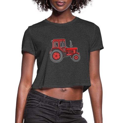 Red tractor - Women's Cropped T-Shirt