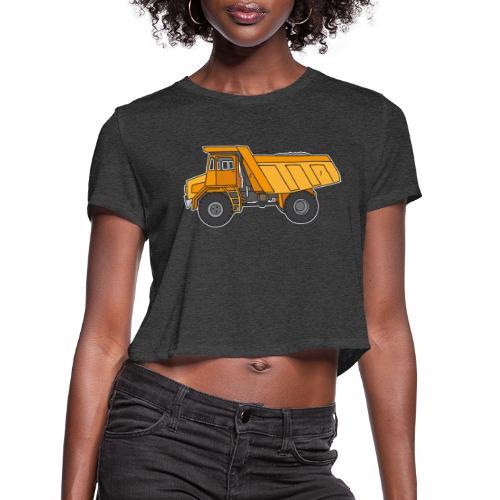 Dump truck or semitrailer - Women's Cropped T-Shirt