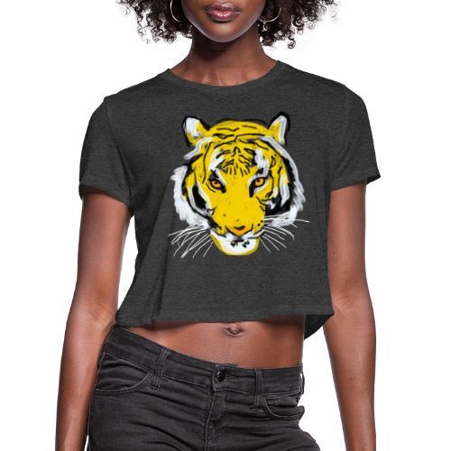 Tiger head - Women's Cropped T-Shirt