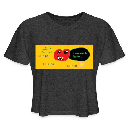 pechy vs apple - Women's Cropped T-Shirt