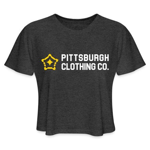 wordmark side - Women's Cropped T-Shirt