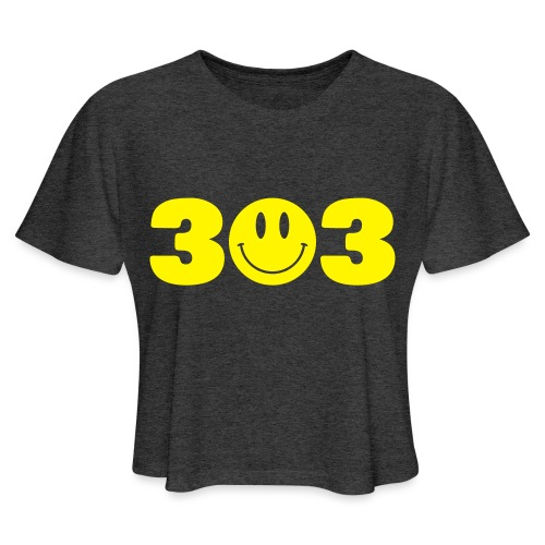 3 Smiley 3 - Women's Cropped T-Shirt