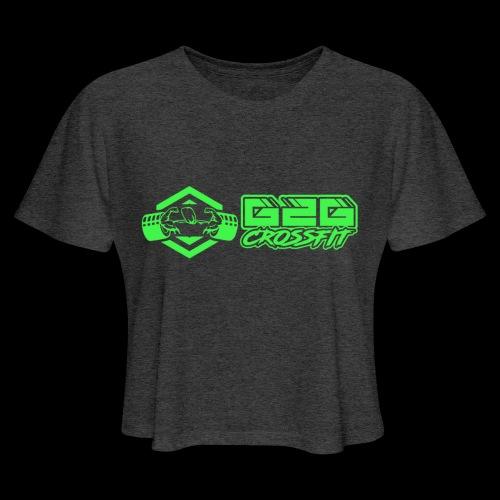 G2G Logo Side by Side Green - Women's Cropped T-Shirt