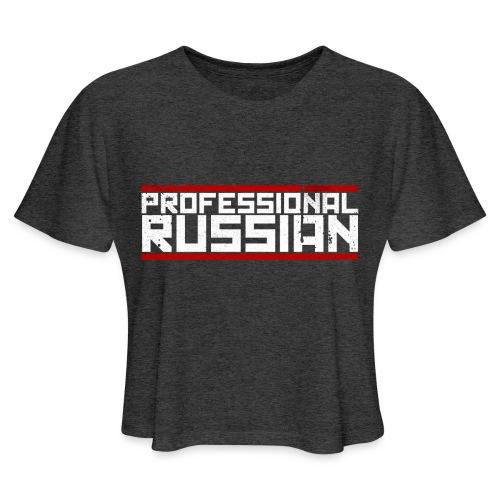 FPS Russia Logo MP Long Sleeve Shirts - Women's Cropped T-Shirt