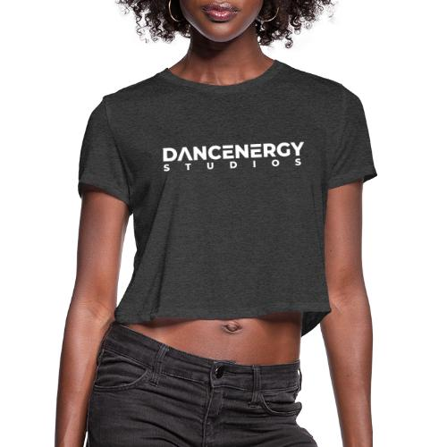 logo dancenergy 2019 white just text - Women's Cropped T-Shirt