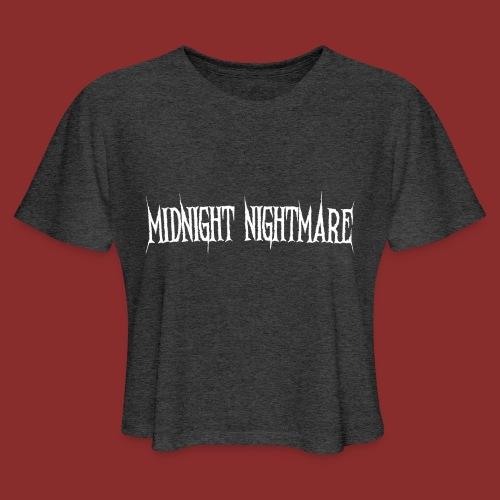 Midnight Nightmare Logo-w - Women's Cropped T-Shirt