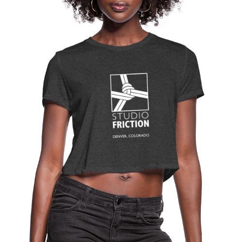Studio Friction White - Women's Cropped T-Shirt