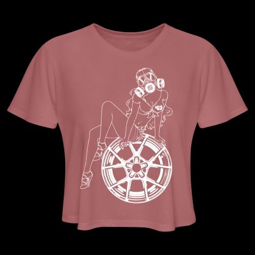 Gas Mask Girl - Women's Cropped T-Shirt