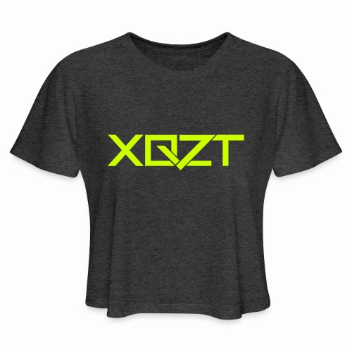 #XQZT Logo Lime Light - Women's Cropped T-Shirt