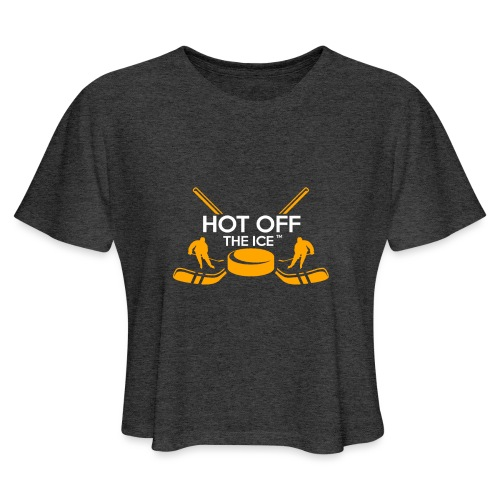 Hot Off The Ice - Women's Cropped T-Shirt