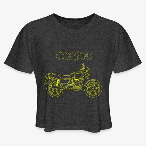 CX500 line drawing - Women's Cropped T-Shirt