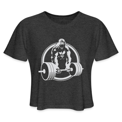 Gorilla Lifting Gym Fit - Women's Cropped T-Shirt