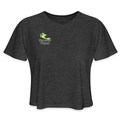 Barefoot Running 1 Women's T-Shirts - Women's Cropped T-Shirt