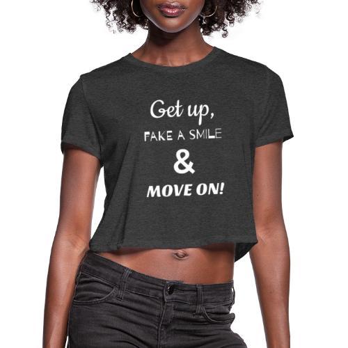 MOVE ON LYRICS FULL SIZE - Women's Cropped T-Shirt