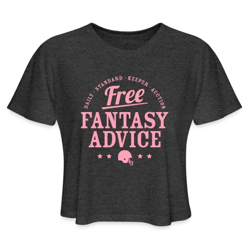 Free Fantasy Football Advice - Women's Cropped T-Shirt