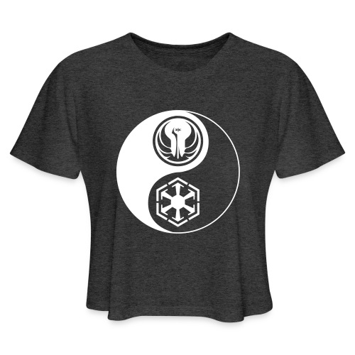 Star Wars SWTOR Yin Yang 1-Color Light - Women's Cropped T-Shirt
