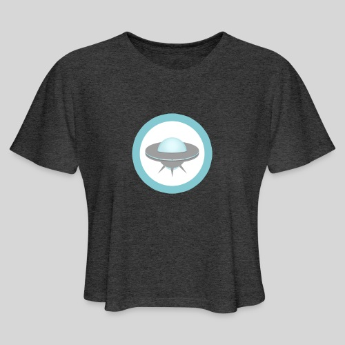 ALIENS WITH WIGS - Small UFO - Women's Cropped T-Shirt