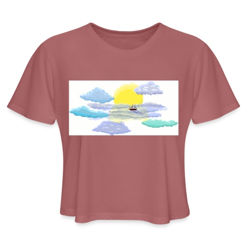 Sea of Clouds - Women's Cropped T-Shirt
